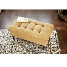 Castered Tufted Storage Ottoman