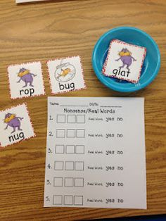 Dr. Seuss activities - read or nonsense words-good for beg/middle/end sounds