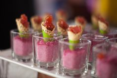 Tuna Sashimi bites by Bel Air Bay Club http://jenosullivan.com/