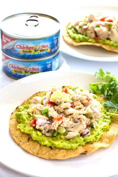 This Mexican tuna salad is a fiesta for your taste buds! Kick your tuna up a notch with this fresh and easy version that goes well with avocado!