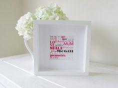 Personalized Mothers Day Gift Framed Print by NJRDesigns on Etsy £21