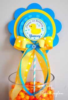 Rubber Ducky Centerpiece Deluxe Rubber Ducky by thepaperkingdom, $14.00