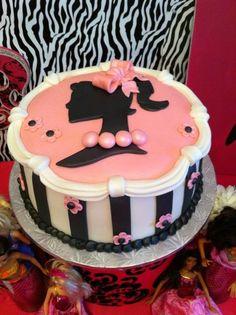 retro barbie cake | barbie birthday party ideas | ... 22 of 52: Vintage Barbie / Birthday ...