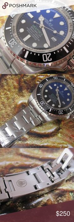 Deep Sea Rolex Deep Sea  - Stainless Steel - Proper Magnification on cyclops - Glides - Automatic Movement - All box and papers included - Watch can be purchased alone for discount  To purchase or ask questions please contact me at: (520)221-4819  Can get about any watch so contact me for inquiry of stock Rolex Accessories Watches