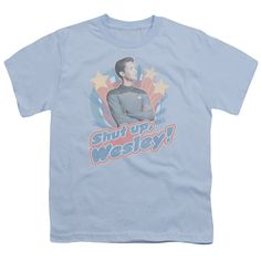 """Checkout our #LicensedGear products FREE SHIPPING + 10% OFF Coupon Code """"Official"""" Star Trek / Shut Up Wesley - Short Sleeve Youth 18 / 1 - Star Trek / Shut Up Wesley - Short Sleeve Youth 18 / 1 - Price: $29.99. Buy now at https://officiallylicensedgear.com/star-trek-shut-up-wesley-short-sleeve-youth-18-1"""