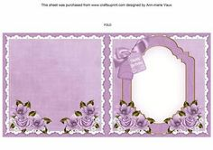 Lavender Fairy Happy Birthday To fit 6in Folded Insert on Craftsuprint - Add To Basket!