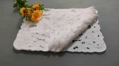 Plaid Tablecloth, White Placemats, Drawn Thread, Satin Stitch, Doilies, Bed Pillows, Colours, Pure Products, Wood