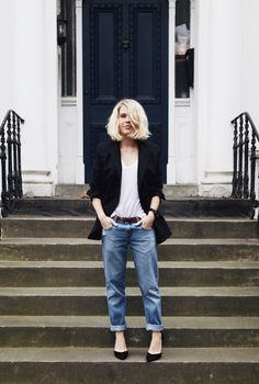 Personal Style: Nobody boyfriend jeans and T by Wang tee in London — We The People