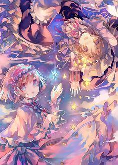 Marisa x Reimu Manga Kawaii, Loli Kawaii, Chica Anime Manga, Kawaii Anime Girl, Anime Art Girl, Anime Chibi, Manga Art, Anime Girls, Anime Sisters