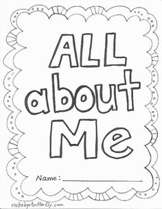 All About Me Printable Book (free; hand-drawn by Rockabye Butterfly) Beginning Of School, First Day Of School, Pre School, Psych, All About Me Preschool, All About Me Activities, All About Me Book, My Themes, Preschool Activities