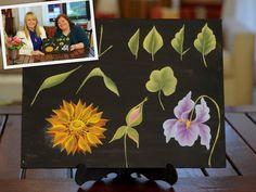 Curso de Pinceladas- Pintar hojas y flores - Silvia Mongelos