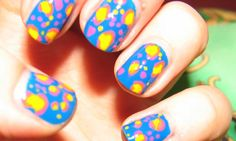 Nail Art How-To: Freehand Abstract Leopard