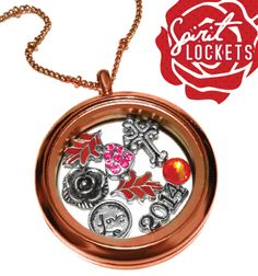 #Red #Rose #Gold #Love #Leafs #Cross Spirit Lockets