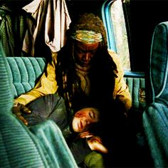 Poor Carl ='( I love how Michonne is taking care of him.