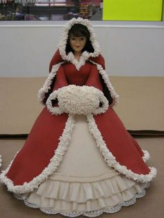 Red Christmas Belle - followed directions from the Wilton Holiday publication.