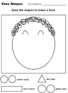parts of the face worksheets - Buscar con Google