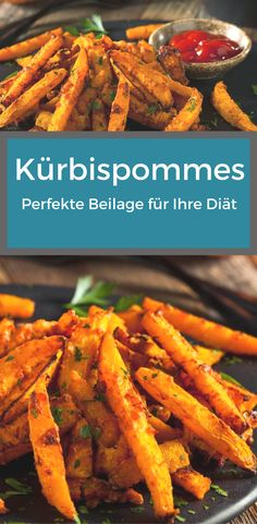 Kürbispommes: Perfekte Beilage für Ihre Diät Those who refrain from carbohydrates for dietary reasons, usually miss the delicious side dishes quickly. That does not have to be, because pumpkin chips are the perfect alternative. Veggie Recipes, Cooking Recipes, Healthy Recipes, Asian Dinner Recipes, Dieta Low, Chips, Food Goals, Slow Food, Health Desserts