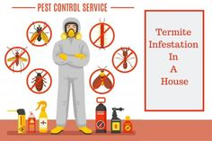 These pests can penetrate very quickly into your house and can cause damage to all the wooden materials that are there. Therefore before its too late, call a professional for Termite Treatment and eradicate these disgusting creatures from your house. Signs Of Termites, Termite Pest Control, Pest Control Services, Creatures, House, Home, Homes, Houses
