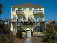 Kick up your feet and relax in paradise at this week's Featured Property, Coco West. This upscale oceanfront duplex is professionally decorated, beautifully furnished and features 5 bedrooms (1 king, 3 queens, 1 double, 1 queen sleeper sofa) and 4 bathrooms with 2 spacious master suites. #CrystalCoast