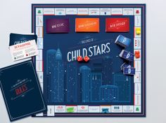 The Lives of Child Stars Board Game by Kate Pullen, via Behance
