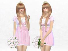 Lolita Pink Bowknot Princess Dress by SakuraPhan at TSR via Sims 4 Updates