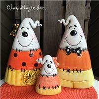 Clay Magic - New Releases Halloween Clipart, Halloween Items, Halloween Crafts, Halloween Lanterns, Halloween Decorations, Fall Decorations, Pottery Painting, Ceramic Painting, Paper Clay