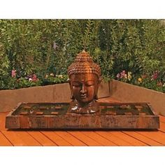 Buddha Outdoor Water Fountain - Fountains - Outdoor Art Pros Best Picture For Indoor water fountains Large Outdoor Fountains, Indoor Water Fountains, Indoor Fountain, Garden Fountains, Fountain Garden, Garden Water, Water Gardens, Amitabha Buddha, Tabletop Fountain