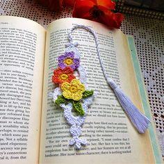 Crochet Bookmark Floral Bookmark Book Accessories Free