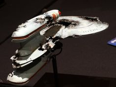 "Star Trek Prop, Costume & Auction Authority: Star Trek: TNG U.S.S. Buran Filming Minature from ""The Best of Both Worlds, Part II"""