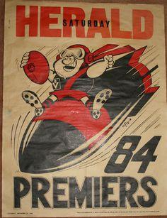 Weg Premiers Poster 1984 Essendon Bombers