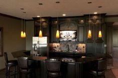 dark basement bar for relaxation