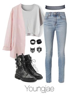 Fly - Youngjae  by ari2sk on Polyvore featuring polyvore, moda, style, rag & bone, Giuseppe Zanotti, NOVICA, Topshop, fashion and clothing