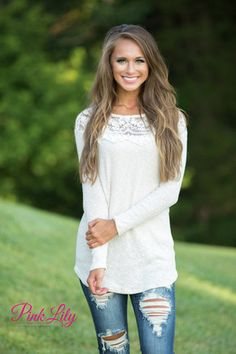 Smile Softly Cream Sweater