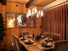 Big Bear Lake, CA, vacation rental perfectly decorated for a lovely fall or holiday dinner!