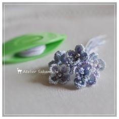 うず紫陽花をせっせと・・・。 : タティングレース便り ~アトリエ さかみち~