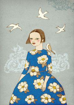 New Day  illustration art print of original drawing by IrenaSophia
