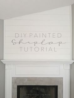One Word: SHIPLAP It's taken the nation by storm. It's been around much longer t. - One Word: SHIPLAP It's taken the nation by storm. It's been around much longer t… One Word: SHIPLAP It's taken the nation by storm. It's been around much longer t… Faux Painting Walls, Painting Shiplap, Faux Walls, Diy Painting, Wall Paintings, Painting Furniture, Textured Walls, Paint Fireplace, Shiplap Fireplace