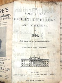 Thom's Directory 1916: the ultimate reference to Dublin during the Easter Rising   eBay