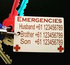 X 2 Medical Alert , SOS key ring, SOS , Survival , emergency ,ambulance ,police