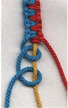 - A cool way to make bracelets - Macrame! – A cool way to make bracelets ›Macrame! - A cool way to make bracelets - Macrame! – A cool way to make bracelets - 3 Amazing Rope Tricks - DIY Tutorials Videos Crafts To Do, Yarn Crafts, Arts And Crafts, Diy Crafts, Fabric Crafts, Bracelet Fil, Bracelet Knots, Knotted Bracelet, Bracelet Making