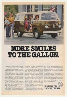 VW Volkswagen Bus More Smiles to the Gallon (1978)