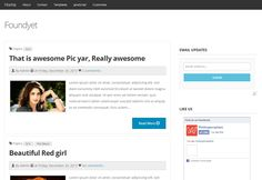 Foundyet - Bootswatch YETI Responsive Blogger template