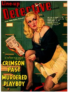 Line-up Detective Cases (from Cows In Art Class, via pulpcovers)