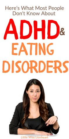 """Most people have no idea that Eating Disorders and ADHD often go together. Women with ADHD are more likely to have an eating disorder than other women. And women with certain eating disorders are more likely to have ADHD (even though most probably don't know it yet!). It's often binge eating, over eating, bulimia, or EDNOS (and even an unhealthy relationship with food without a diagnosis). """"BUT WHY?!"""" and """"WHAT DO I DO?"""" Glad you asked! #overeating #bingeating #adhd #adhdwomen #eating Causes Of Adhd, Adhd Facts, Adhd Diagnosis, End The Stigma, Adhd And Autism, Adult Adhd, Binge Eating, Why Do People, Medical Information"""