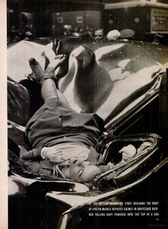 Evelyn McHale suicide- Time Magazine; She appears so calm and yet her body is completely broken- it's intriguing.