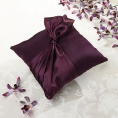 Plum Ring Bearer Pillow
