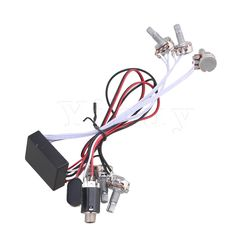 US $11.18 Yibuy Active Preamp 3 Band Equalizer EQ Harness Guitar Bass Tone Control System #Yibuy #Active #Preamp #Band #Equalizer #Harness #Guitar #Bass #Tone #Control #System