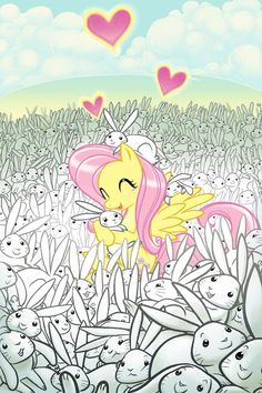 Bunnies should take over the world every day says fluttershy