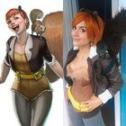 Real life Marvel Squirrel Girl cosplay comparison [self] Girl Costumes, Costume Ideas, Halloween Costumes, Unbeatable Squirrel Girl, Marvel, Cosplay, Image Macro, Real Life, Fans