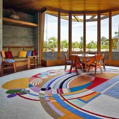 A day-long celebration at the house Wright designed for his son David and daughter-in-law Gladys will feature an installation of balloons by LA-based art studio Geronimo Balloons intended to match the carpet located in the living room.